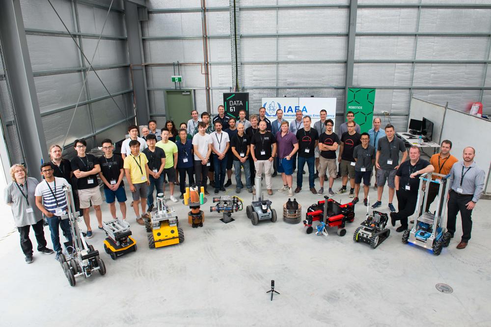 robots working on radioactive sites