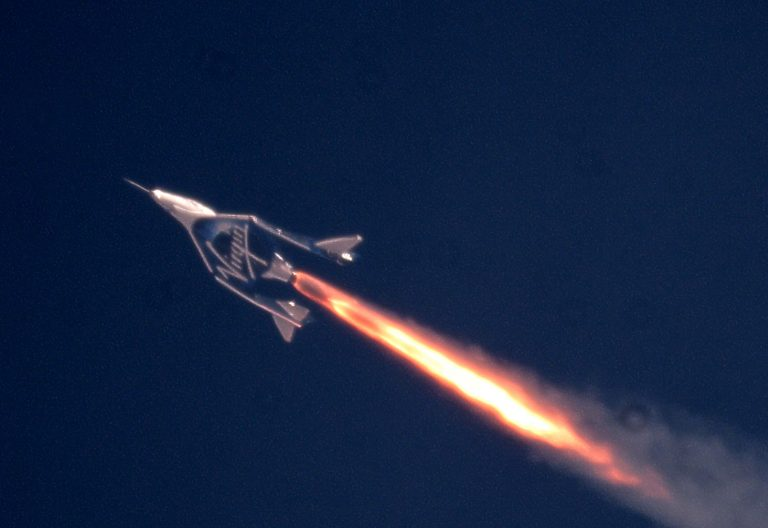 Virgin Galactic's SpaceShipTwo makes its first flight into the mesosphere