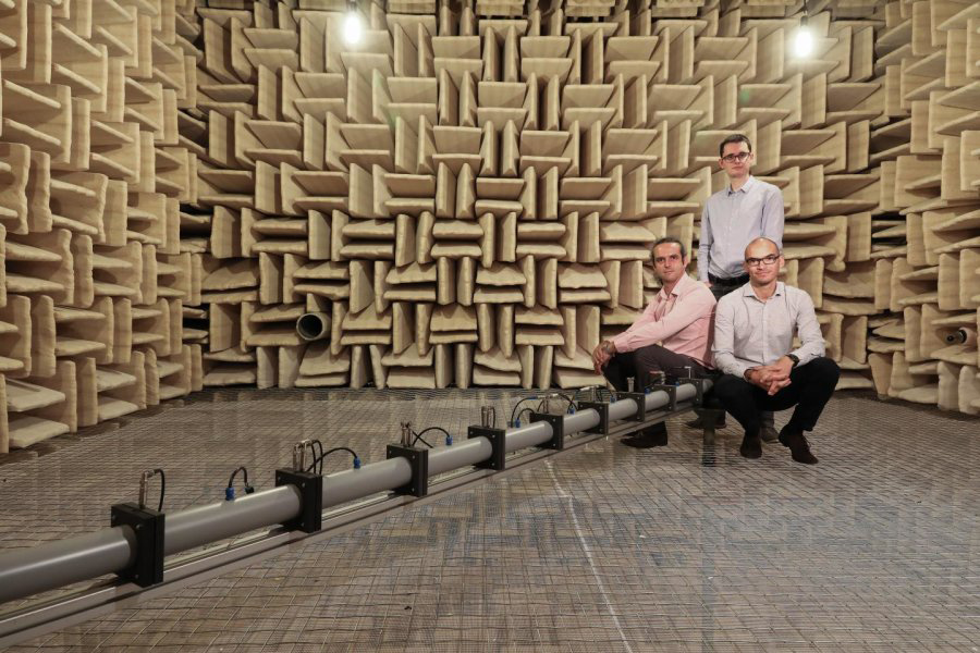 acoustic device to cancel sound waves