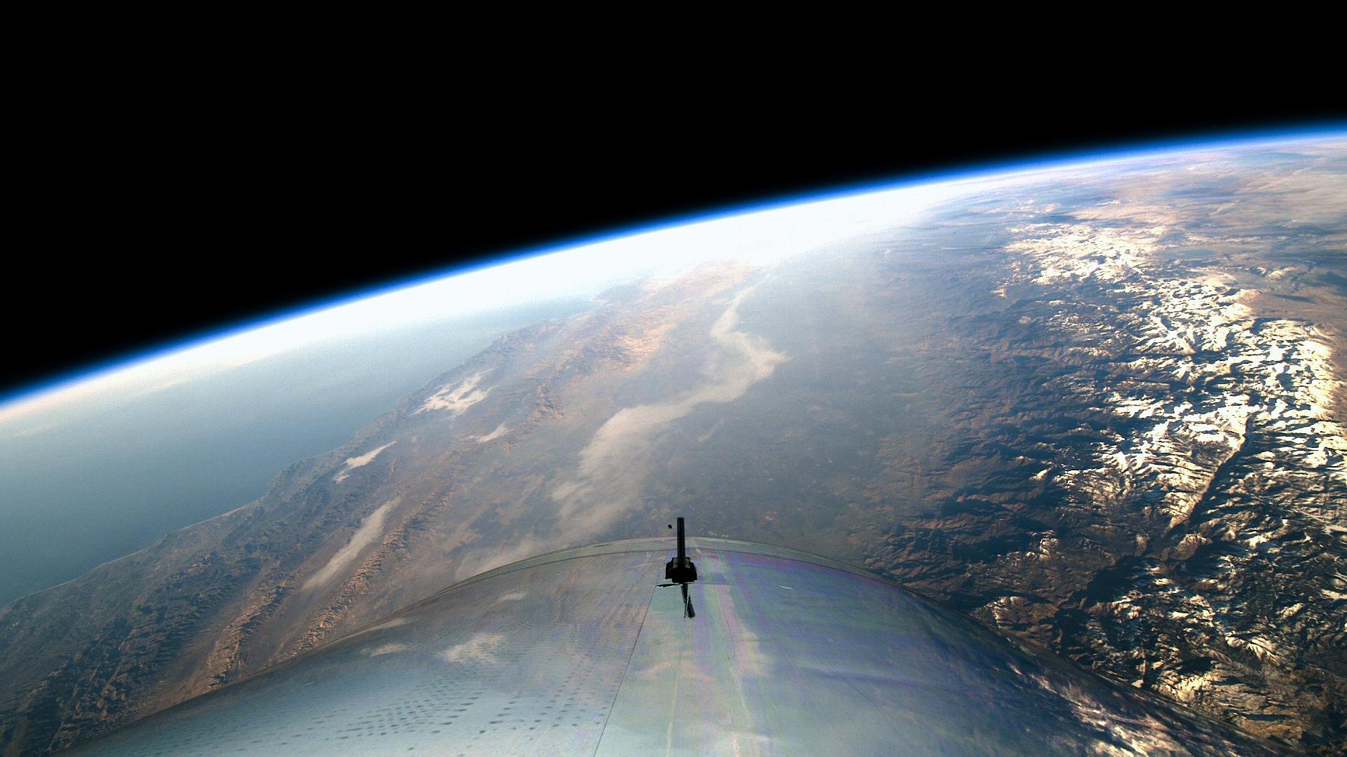 Virgin Galactic VSS Unity first spaceflight