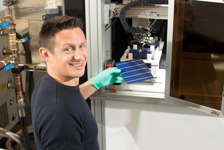 Brett Hallam working on next-gen solar cells