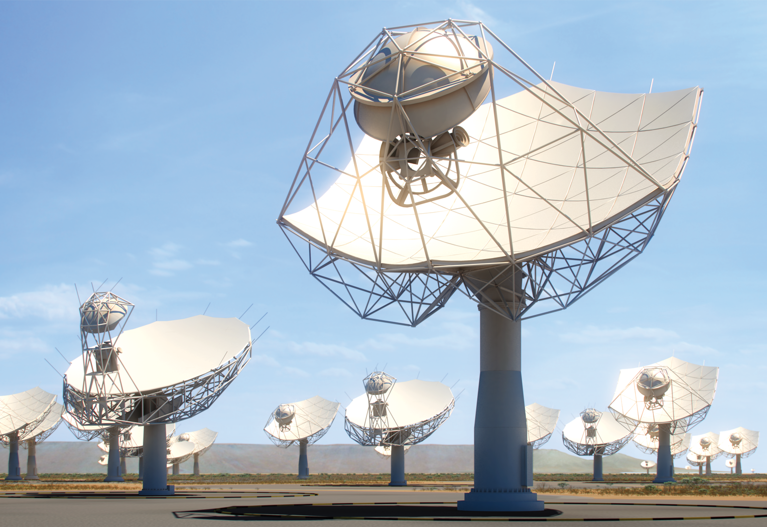 Square Kilometre Array dishes in South Africa