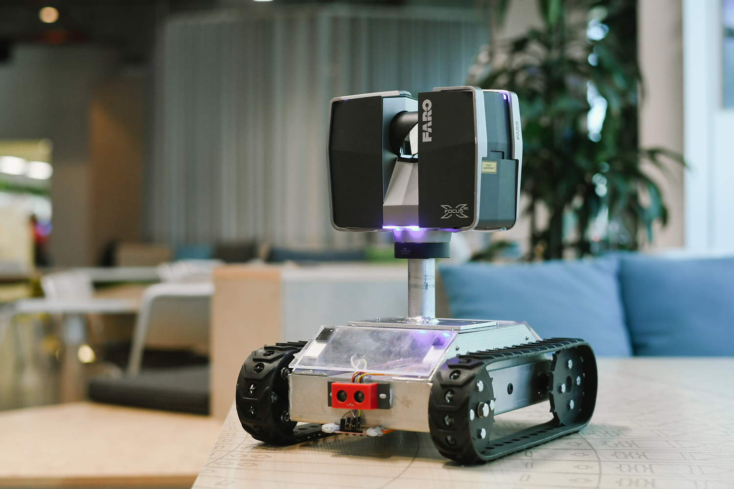 Hermes the robot, designed to scan construction sites