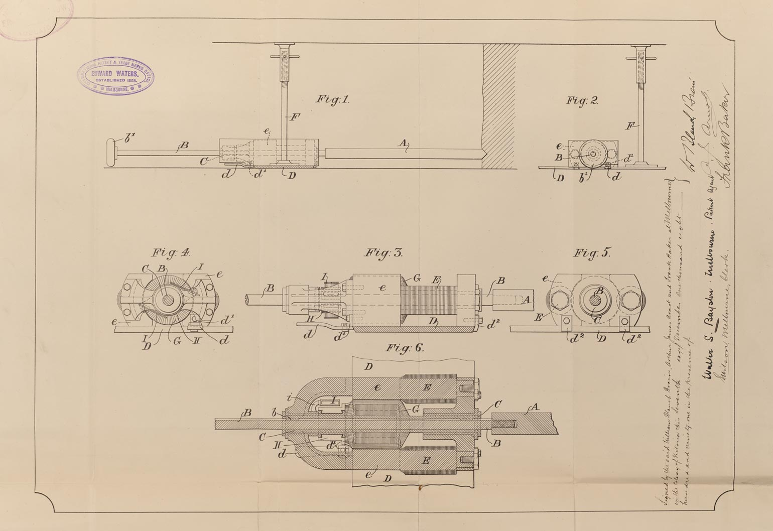 patent filing for the first electric drill