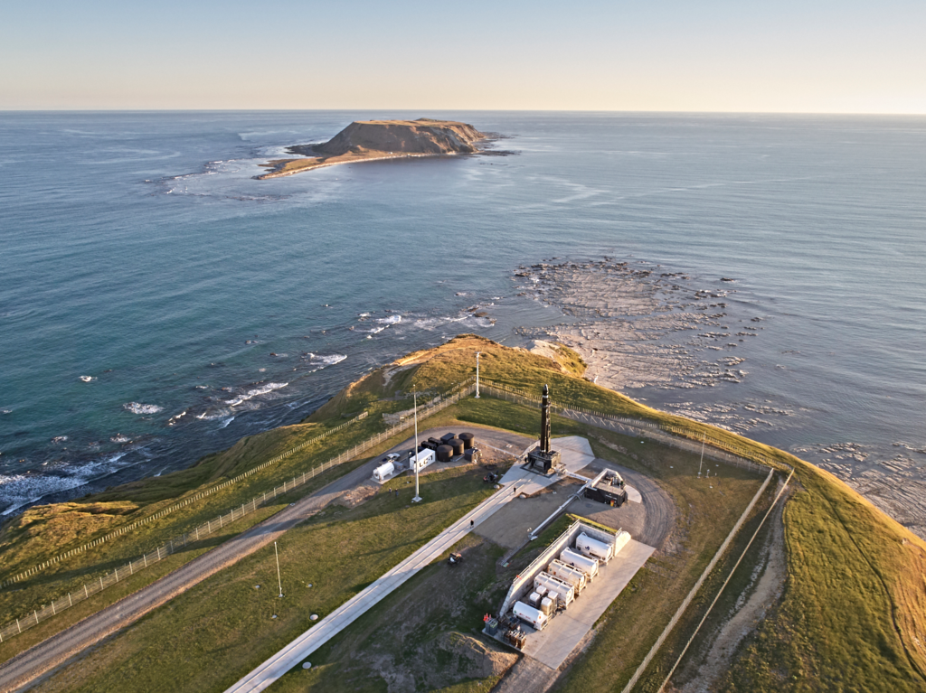 The Rocket Lab facility located in scenic Mahia, New Zealand