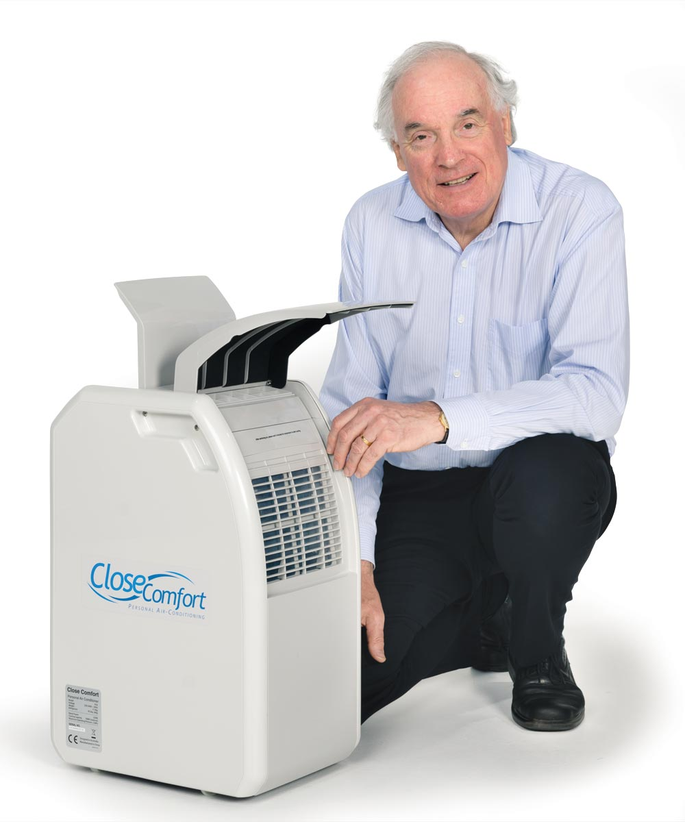 James Trevelyan with his invention Close Comfort