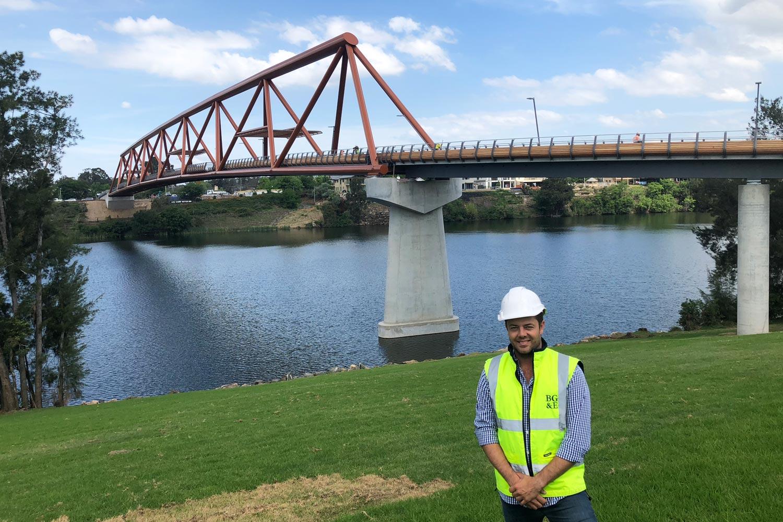 Truss bridge over the Nepean River