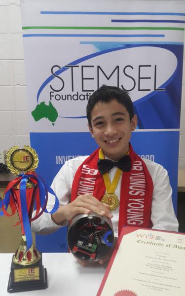 Max with his award
