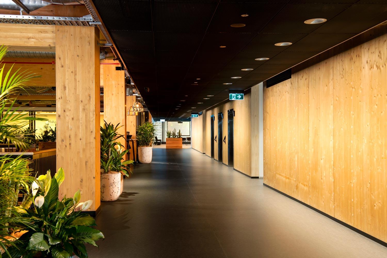 Wood-structures-elevator-corridor