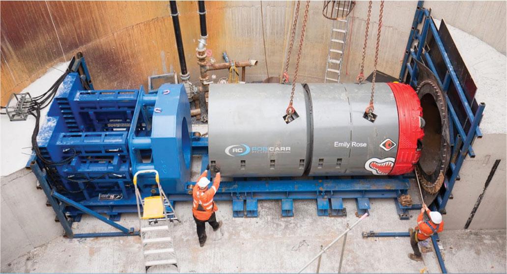 small tunnel boring machines (TBM) for Green Square