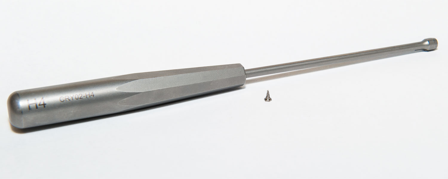 A screwdriver made by medical device company Vestech