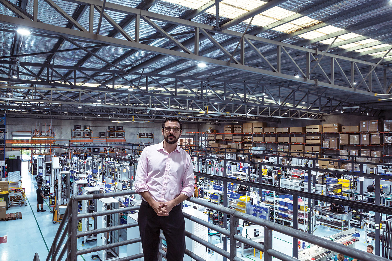 Scenes from Tritium's 3500-square-metre production facility in Brisbane. (Image: Thomas Wielecki)