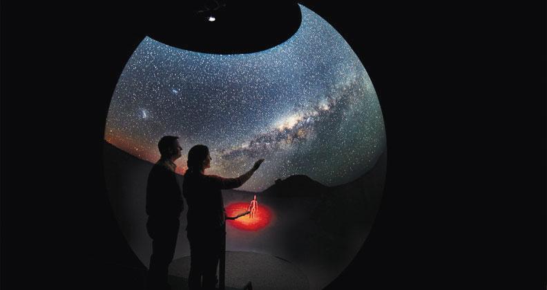 The HIVE's Dome display