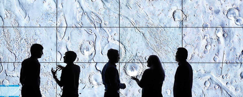Examining sites on Mars