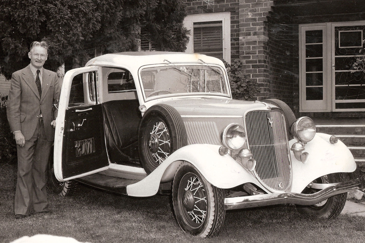 Brandt with his 1934 ute