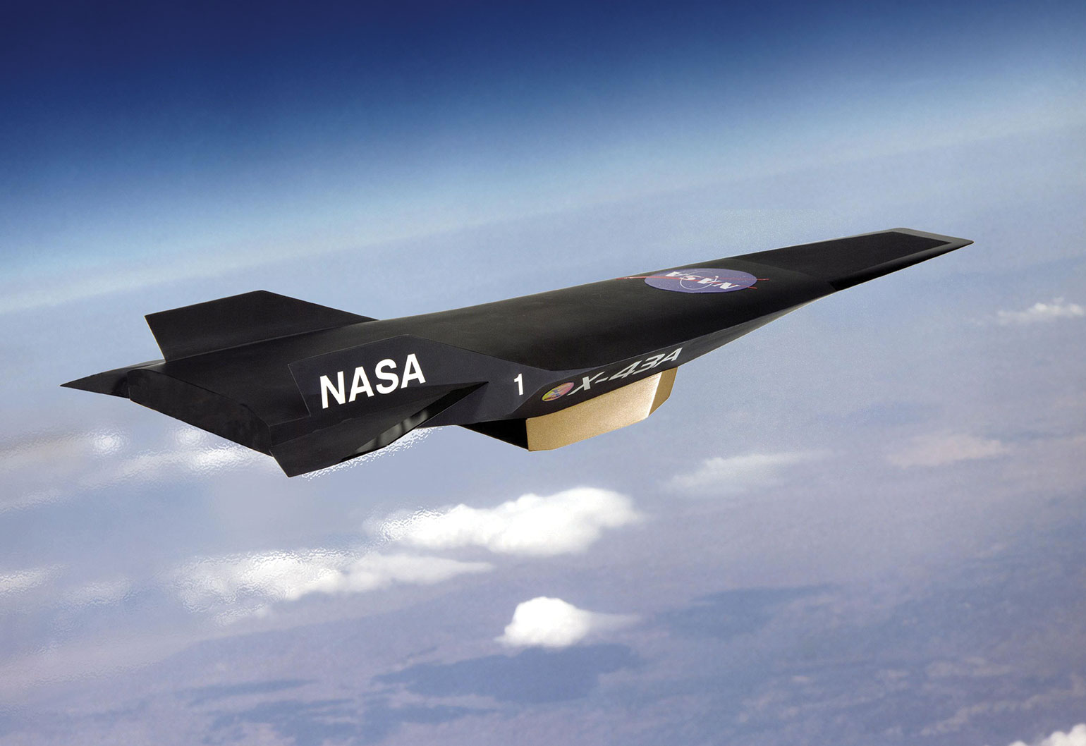 An artist's conception of the hypersonic X-43A craft