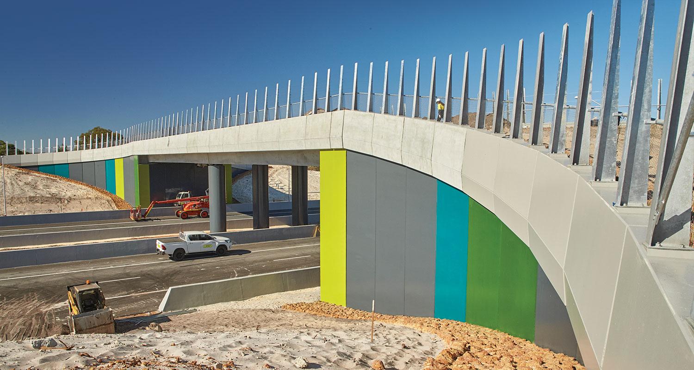 The finished fauna bridge.
