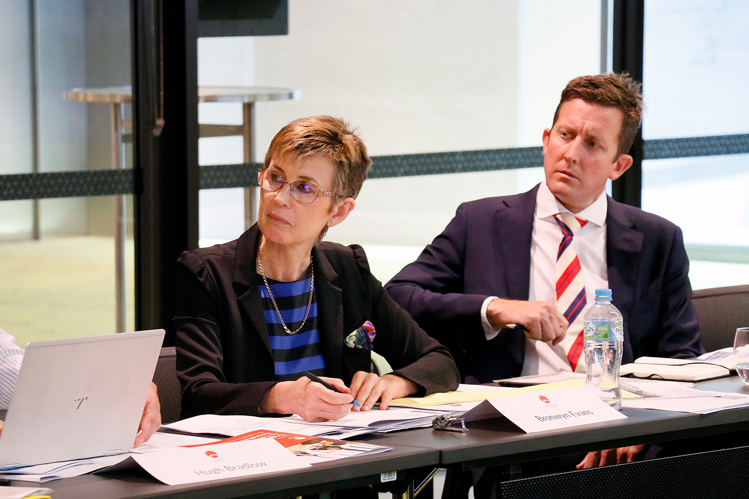 Dr Bronwyn Evans, CEO, Engineers Australia (left) and Todd Battley, Chief Executive ANZ, AECOM.