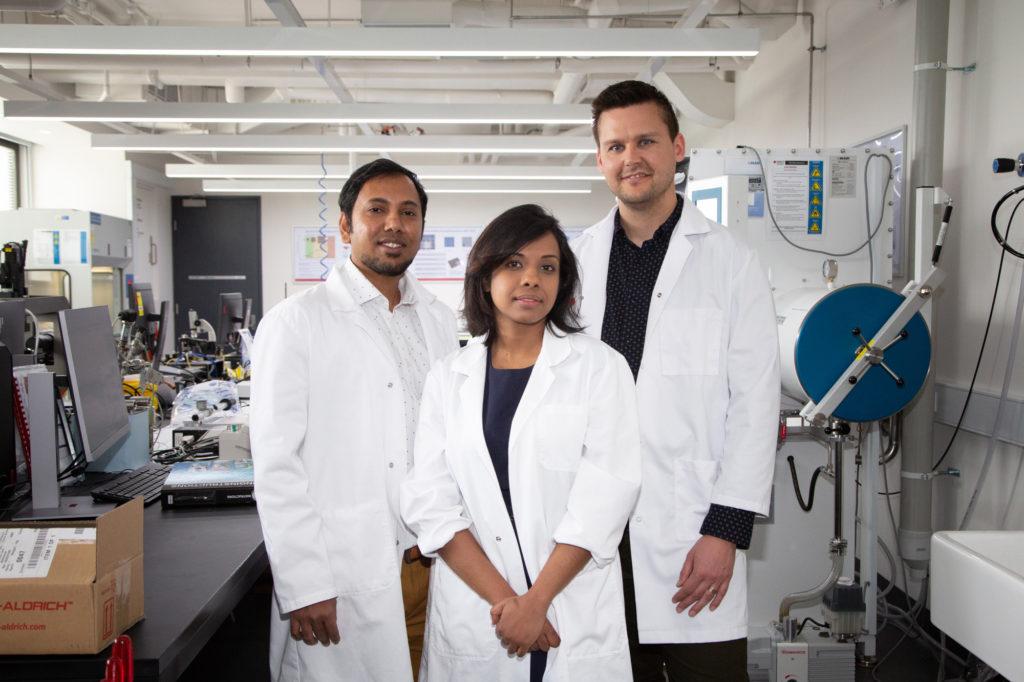 RMIT researchers Dr Robi Datta, Dr Nitu Syed andDr Torben Daeneke.Image: RMIT