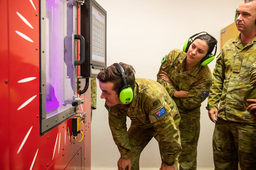 SPEE3D metal 3D-printing technology will be deployed to assist Australian Army soldiers in remote locations. (Image: SPEE3D)