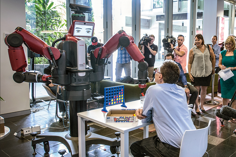 Fancy a game, Baxter? (Image: Australian Centre for Robotic Vision/QUT)