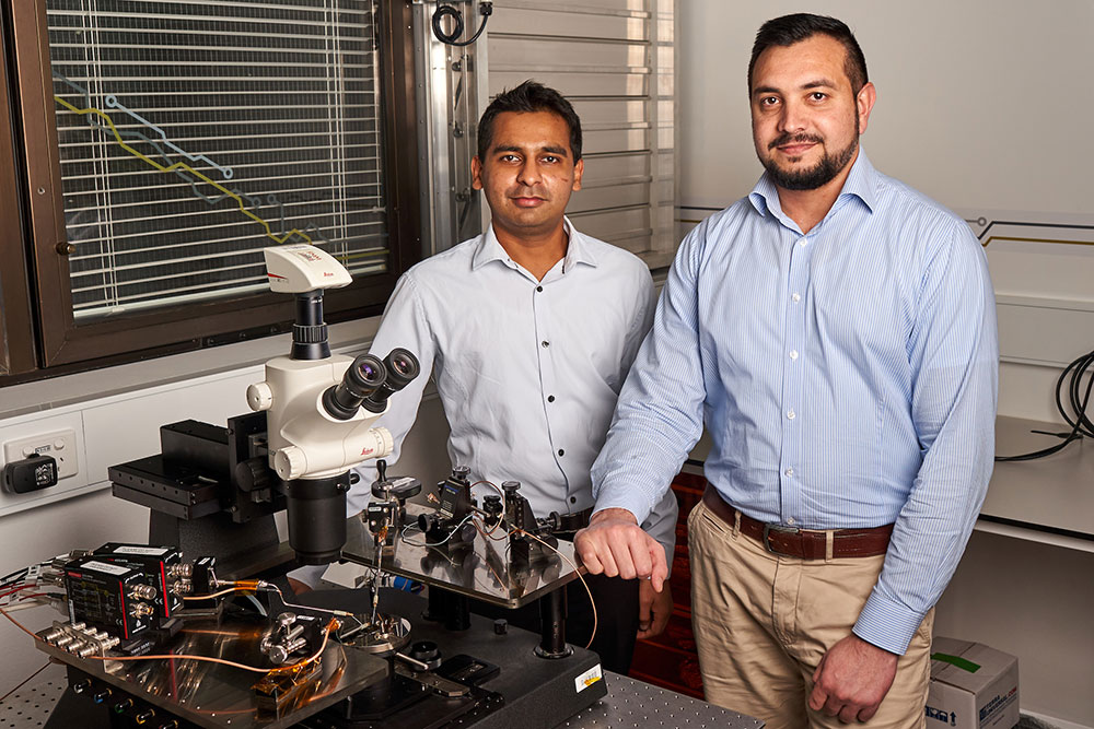 Associate Professor Sumeet Walia with study lead author Dr Taimur Ahmed.