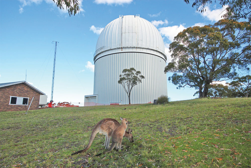 The Anglo-Australian Telescope is at Siding Spring Observatory.