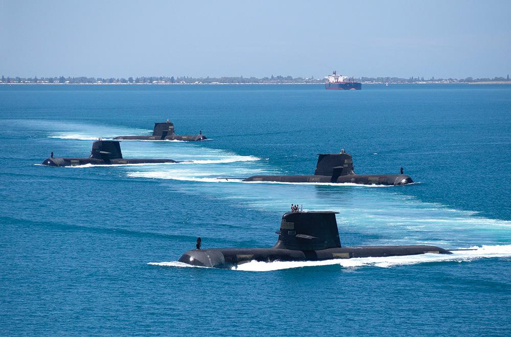 Australian Navy submarines at sea.