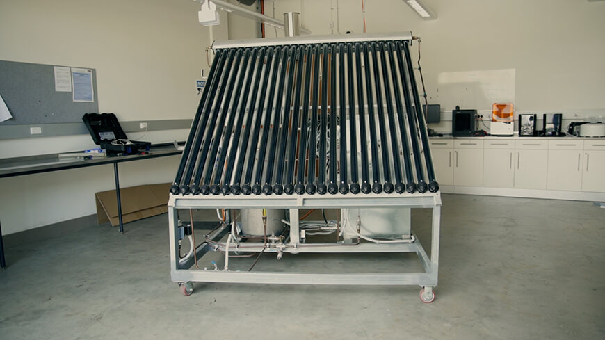 The water treatment unit is small enough to fit on a residential home. (Image: Edith Cowan University)