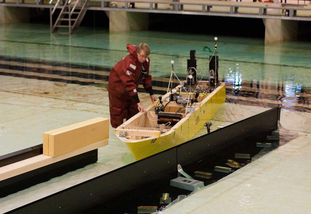 Ship tunnel testing. (Image: Anne Grethe Nilsen/Kystverket)