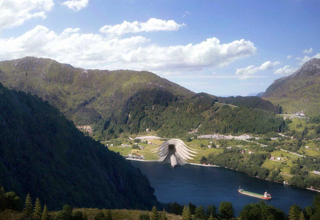 The tunnel entrance at Kjøde. (Image: Norwegian Coastal Administration/Snøhetta)