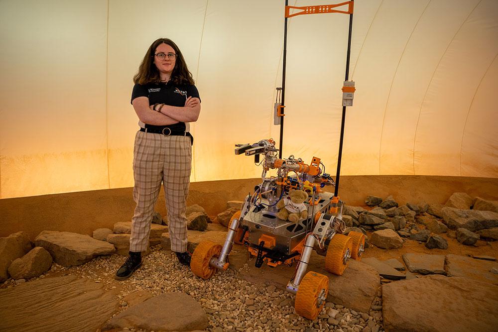 Monash University rover challenge team lead Rebecca Muir.