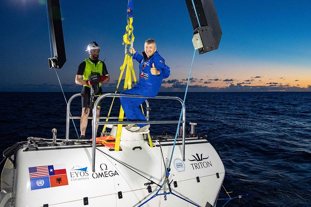 Rob McCallum returns from Challenger Deep.