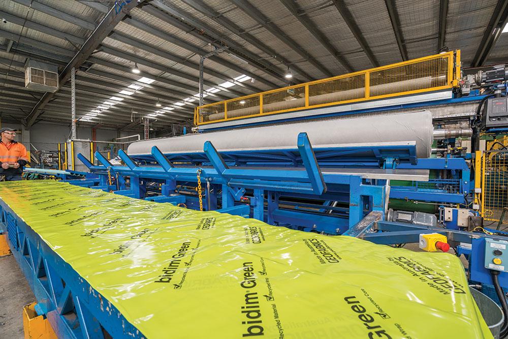 Manufacturing Bidim Green.