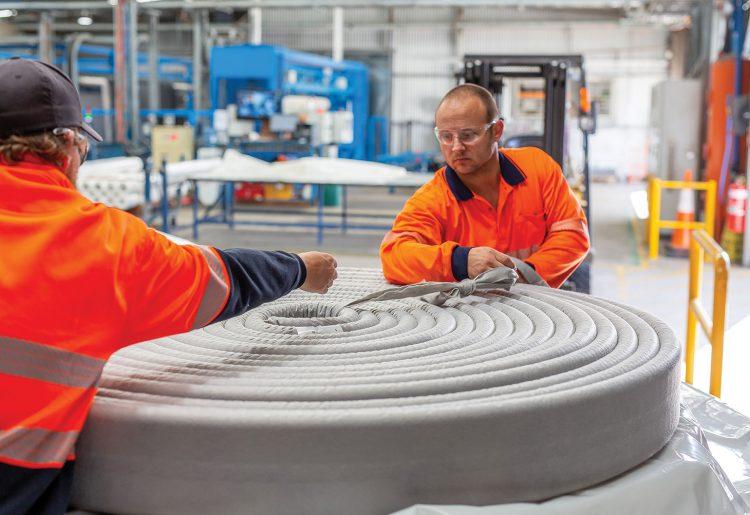 Geofabrics produces Megaflo at its Albury factory.