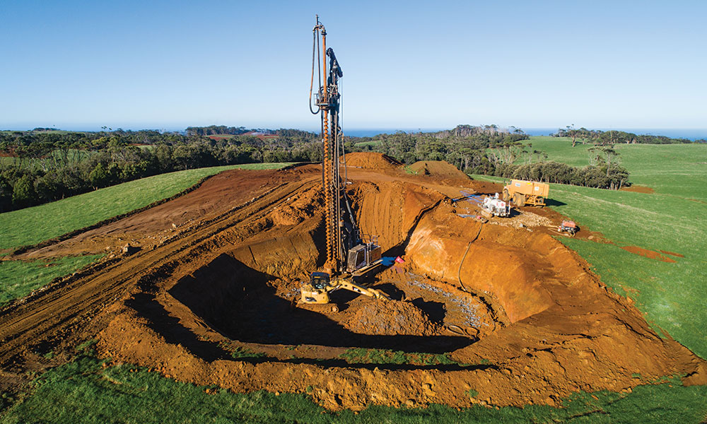 The foundations required a technique that had never before been used for a wind farm in Australia.