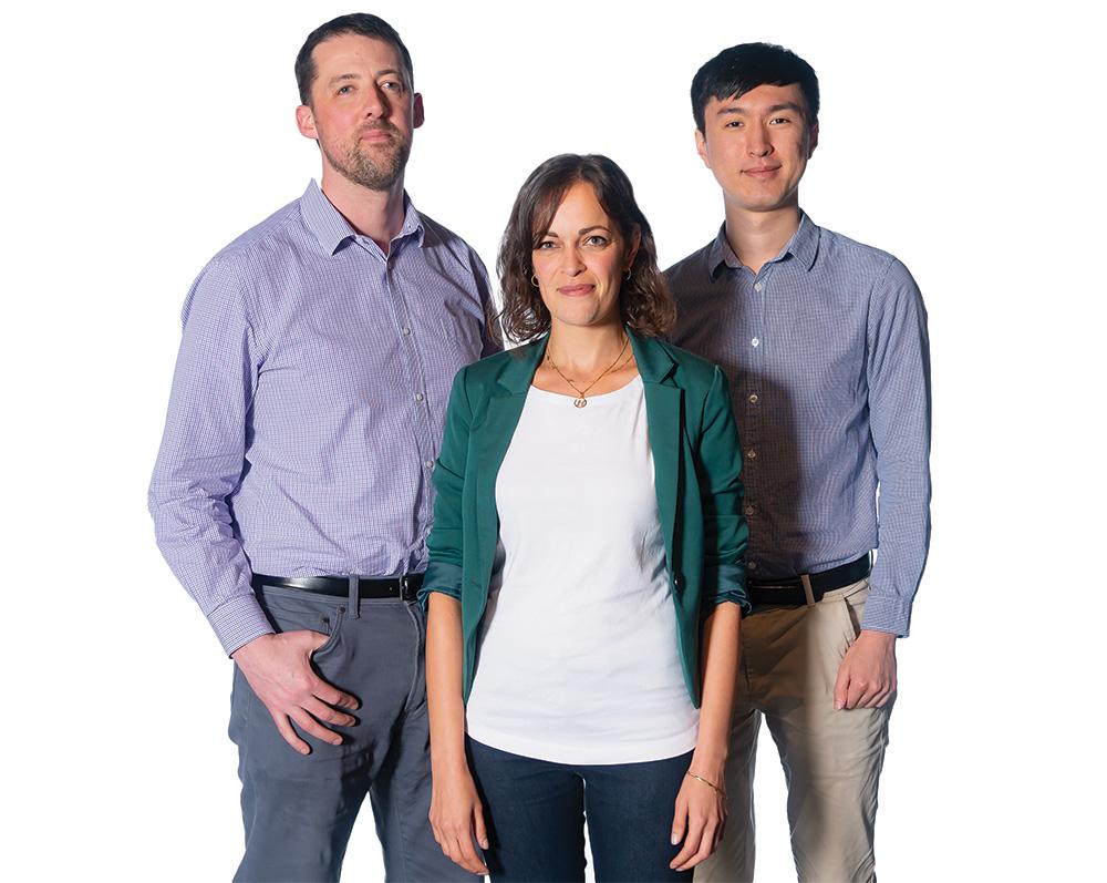 Contactile's Stephen Redmond, Heba Khamis and Ben Xia.