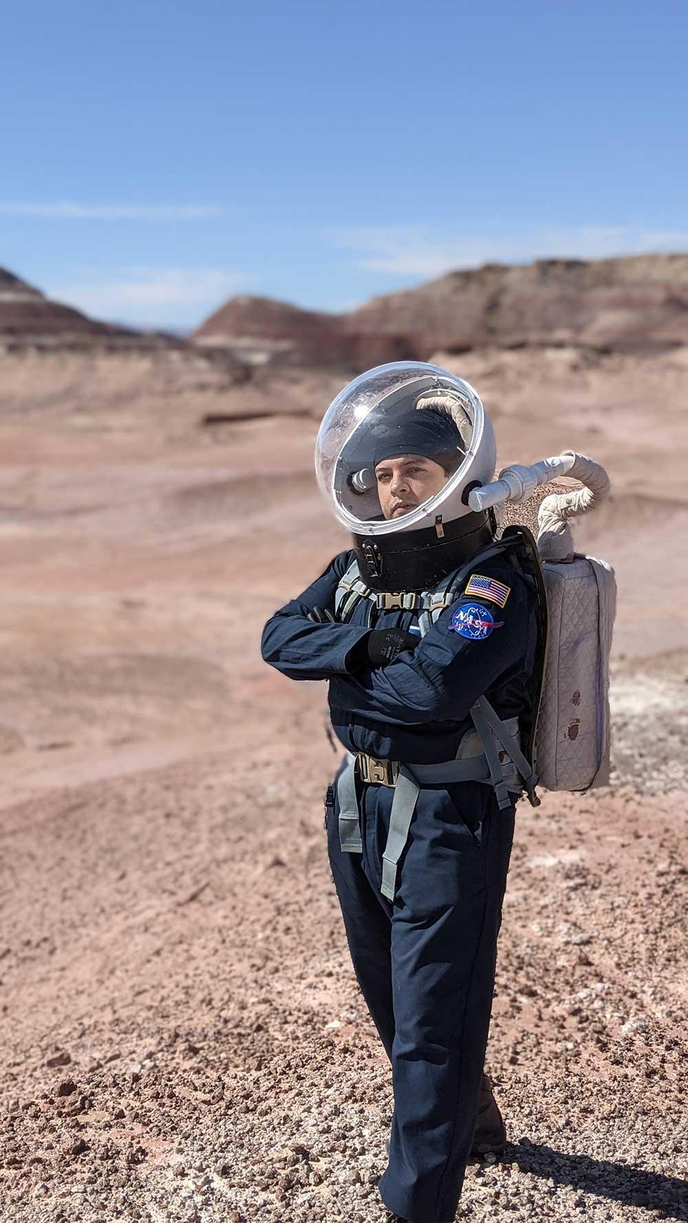 Julio Hernandez is investigating growing food in space