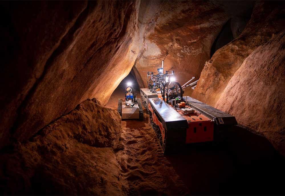 The CSIRO team will test six autonomous robots on a series of underground caves